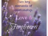 Relationships and Forgiveness
